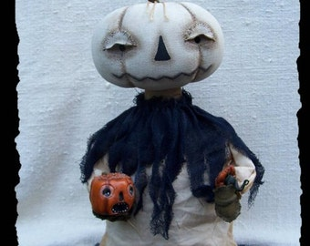 Peter, Peter, Pumpkin Eater, A Primitive, Folk Art, Halloween, Doll,  PATTERN