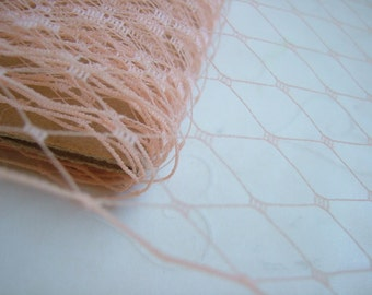 1 Yard 9 inches wide Russian/French veiling -- Peach