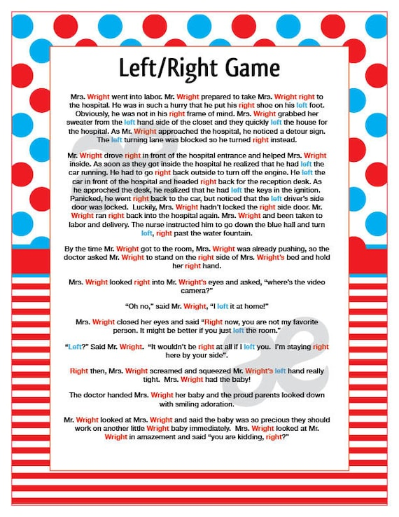 The LeftRight Christmas Game Pass It On!