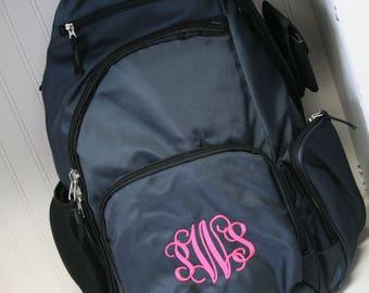 monogrammed backpack, monogrammed sling bag, monogrammed back pack, personalized backpack