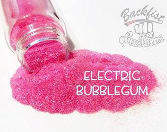 ELECTRIC BUBBLEGUM || Neon, Transparent Fine Glitter, Solvent Resistant