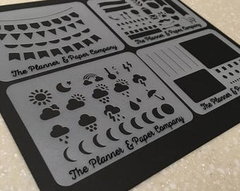Set of 4 Planner Stencils