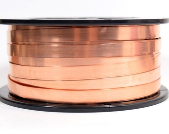 Copper Bezel Wire - 1/4 Inch - 24 Gauge - Choose Your Length