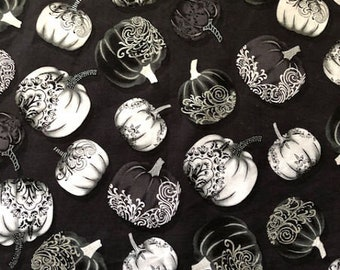 Shades of Grey Pumpkins Tarot/Altar Cloth