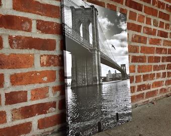 Gallery wrapped print 18x25, Brooklyn Bridge NYC
