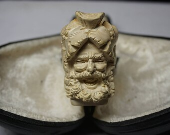 High Quality Vintage Meerschaum Pipe, Laughing Woodsman