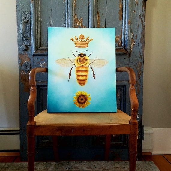 The Queen is in the House, original acrylic painting on canvas