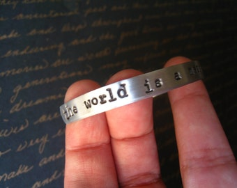"""Dr. Horrible """"The World Is a Mess And I Just Need To Rule It"""" Bangle, Dr. Horrible's Sing-a-Long Blog Inspired, NPH, Arrives Gift Wrapped"""