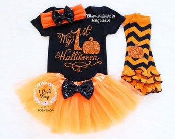 Baby 1st Halloween, Baby Halloween Costume Girl, Baby Halloween Outfit Girl, Baby First Halloween Outfit, Baby Halloween Tutu, Hallowen HH29