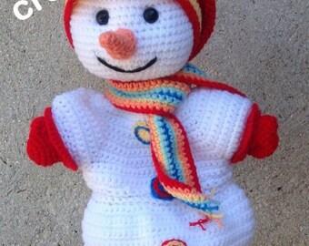 CROCHET pdf tutorial/pattern: snow snowman puppet