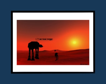 Star Wars - AT-AT Walker - I Am Your Father - Movie Poster