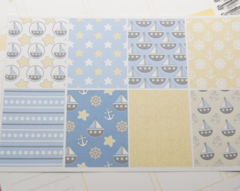 Planner Stickers 8 Nautical Stickers Planner Stickers eclp PS46 Fits Erin Condren