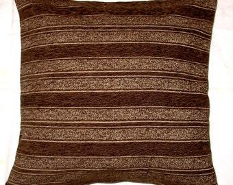 Brown Velvet Pillow Cover, Cotton Velvet Pillow, Modern Home Decor Accessories.