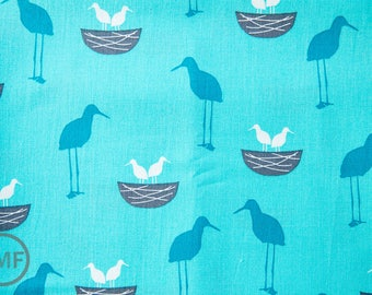 Perfectly Perched Nest in Celebration, Laurie Wisbrun, Robert Kaufman Fabrics, 100% Cotton Fabric, AWN-12849-203 CELEBRATION