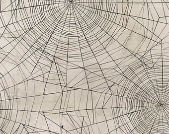 Tim Holtz - Materialize- Spider Web Cob Web Halloween Haunted Fabric PWTH090 BTY
