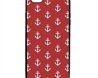 Nautical Anchor Print Phone Case Samsung Galaxy S5 S6 S7 S8 S9 Note Edge iPhone 4 4S 5 5S 5C 6 6S 7 7S 8 8S X SE Plus