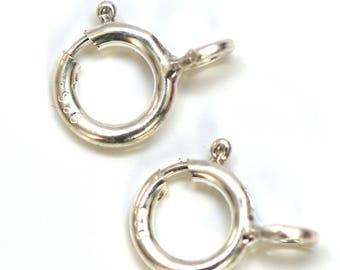 2-10 Shiny .925 Assay Hallmarked Sterling Silver Bolt Clasps 7mm ~Fine Jewellery Making