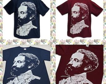 Haile Selassie I [Made in ETHIOPIA]T-Shirt  (roots reggae dub rastafari africa ethiopia jamaica haile selassie i)