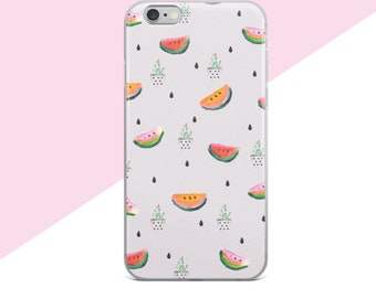 Samsung Galaxy S7 Case, Cute iphone Cases, Foodie Gift, Samsung Galaxy S8 Plus Case, Tropical iphone Case, Succulent Print, Watermelon,