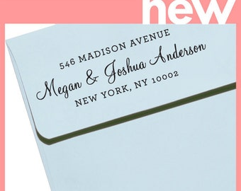 CUSTOM ADDRESS STAMP with proof from usa, Eco Friendly Self-Inking stamp, rsvp address stamp, library stamp, calligraphy designer stamp 54