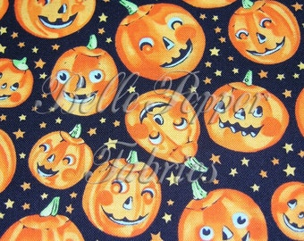 Alexander Henry Trick or Treat Pumpkin 1 yard