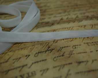1/4 inch wide Marshmallow White Velvet Ribbon