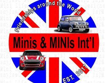 Grill Badge- Minis & MINIs International group 'Union Jack'