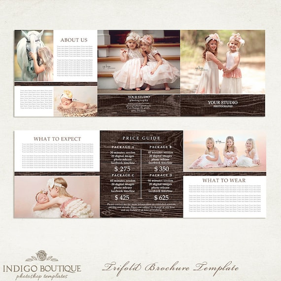 5x5 trifold brochure photographer price list photography package 5x5 trifold brochure photographer price list photography package pricing price guide marketing template 002 id204 instant download from saigontimesfo