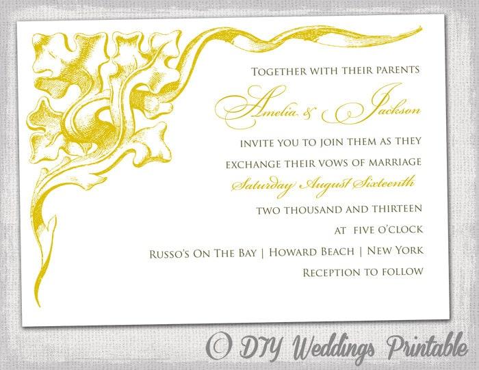 Wedding invitation template gold corner scroll zoom stopboris Images