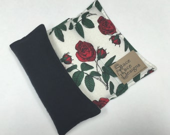 Floral Rose Rice Heating Pad, Microwaveable Heat Pad, Rice Bag, Rice Pack, Heat Pack, Heat Therapy, Back Pain Relief, essential oils