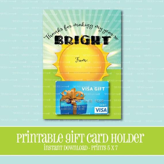 INSTANT DOWNLOADBright Future Gift Card HolderTeacherGift