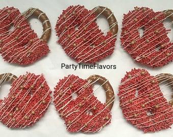 Red Chocolate Pretzels