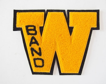 Vintage School Letter Black and Gold W