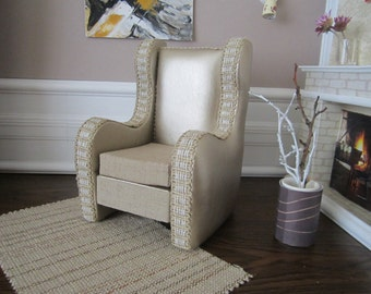 Beautiful Designer Quality BARBIE  Armchair. Great gift idea for your Girls !