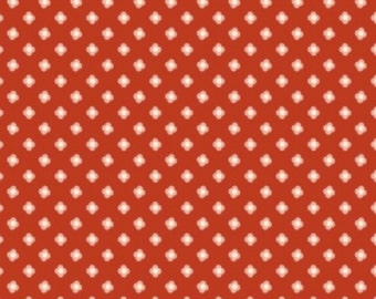 Red Knit Fabric, Acorn Valley Bloom Dot Red in Knit