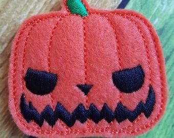 Pumpkin King Feltie, Pumpkin Feltie, Felt Embellishments, Felt Applique, Hair Bow Supplies, Halloween Feltie