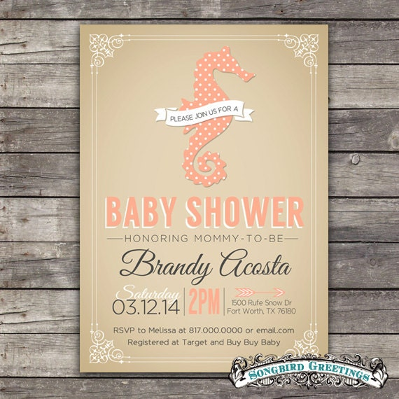 Baby Girl Shower Invitations Etsy Choice Image Coloring Pages Adult