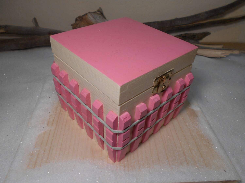 Handmade wooden box Pink box Girlfriend\'s gift Birthday