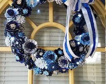 Custom-Pinecone Wreath