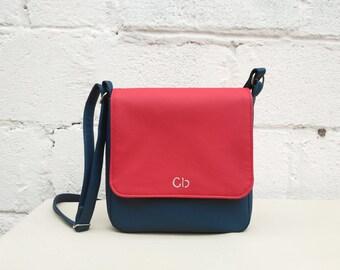 Vegan leather bag, Crossbody purse, Vegan purse, Womens gift, Initial bag, Personalized gift