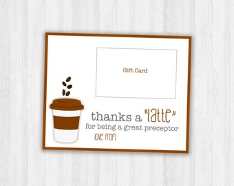 Preceptor Gifts, Gift card for preceptor, Thank you gift cards, printable gift cards, instant download