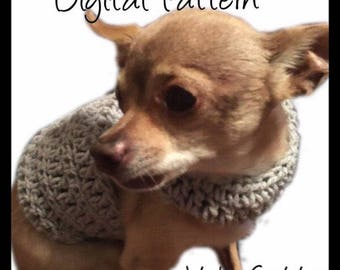 Dog Sweater - X-Small Size CROCHET PATTERN Dog Pet Chihuahua Vest Birthday Jacket Sweater Apparel Clothes Costume Outfit