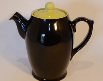 Langley black & lime coffee pot - original from the 1960's