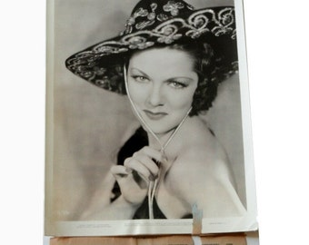 """Carol Hughes, """"Stage Struck,"""" Original Numbered Promotional Photograph, Black White, Hollywood Actor"""