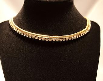 Vintage Rhinestone Choker Necklace