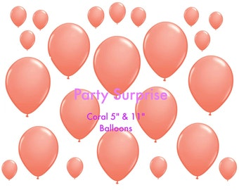 Coral Balloons Best Prices 5, 11, and 36 inch,Wedding Balloons,Shower Balloons,Party Balloons, Coral party balloons birthday decorations