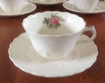 Spodes Jewel Copeland BILLINGSLEY ROSE Pink Cup and Saucer (3 Available)