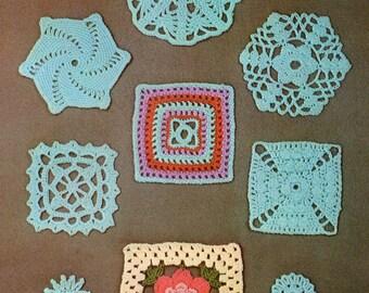 Vintage Crochet Motifs Pattern