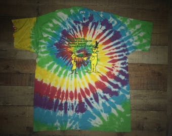 Dr. Suess Green buds and hash Grateful Dead Lot Tie Dye Shirt