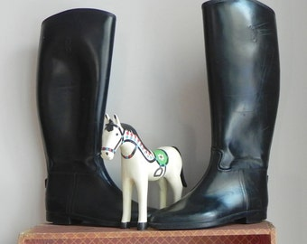 equestrian riding boots, rubber, by Colt, men's size 5, women's size 6